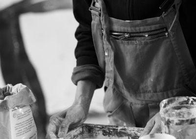 préparation en atelier - 2019 - © Alain Franqueville