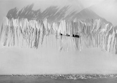Mapraa 2019 - Plissé de plâtre coulé in situ -  © Tim Douet